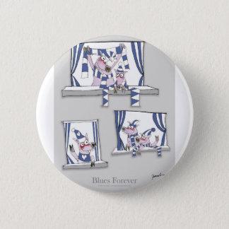 Bóton Redondo 5.08cm azuis leitães para sempre