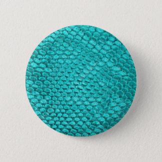 Bóton Redondo 5.08cm Azul de turquesa do réptil