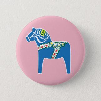 Bóton Redondo 5.08cm Azul do cavalo de Dalahäst | Dala