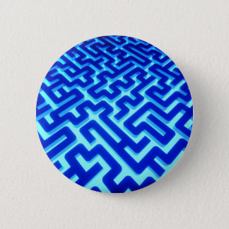 Bóton Redondo 5.08cm Azul do labirinto
