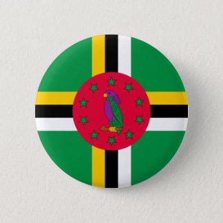 Bóton Redondo 5.08cm Baixo custo! Bandeira de Dominica