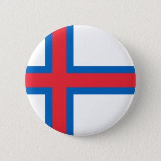 Bóton Redondo 5.08cm Baixo custo! Bandeira de Faroe Island