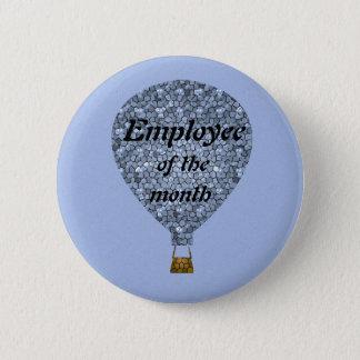 Bóton Redondo 5.08cm Balão de ar quente do mosaico da apreciação do