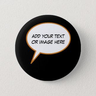 Bóton Redondo 5.08cm balão de discurso personalizable dos desenhos