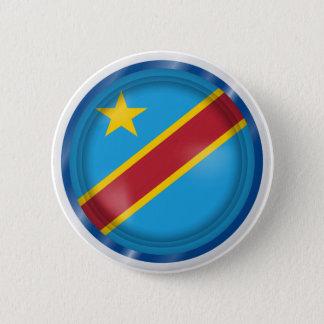 Bóton Redondo 5.08cm Bandeira abstrata de Congo, a República