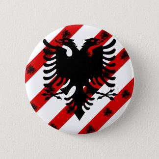 Bóton Redondo 5.08cm Bandeira albanesa das listras