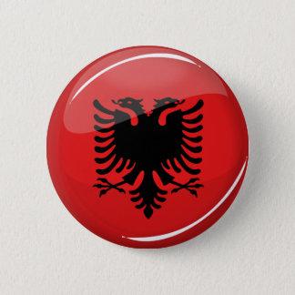 Bóton Redondo 5.08cm Bandeira albanesa redonda lustrosa