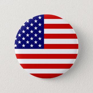 Bóton Redondo 5.08cm Bandeira americana