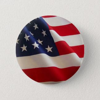Bóton Redondo 5.08cm Bandeira americana. Glória velha!