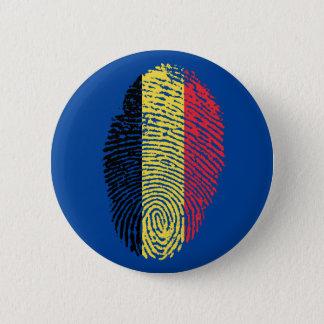 Bóton Redondo 5.08cm Bandeira belga da impressão digital do toque