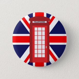 Bóton Redondo 5.08cm Bandeira britânica de Union Jack da caixa do