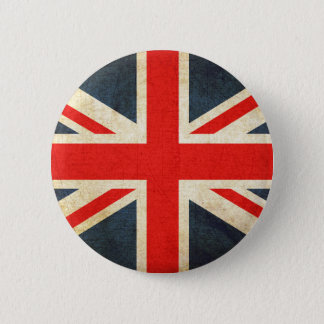 Bóton Redondo 5.08cm Bandeira britânica retro de Union Jack botão