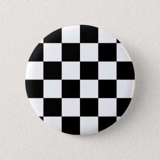 Bóton Redondo 5.08cm Bandeira Checkered preto e branco da auto