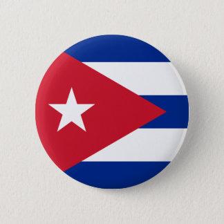 Bóton Redondo 5.08cm Bandeira cubana - bandera Cubana - bandeira de