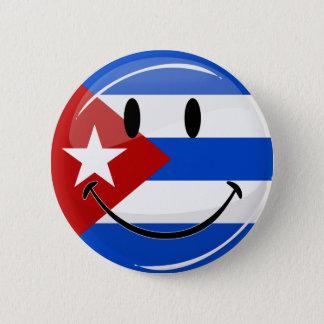 Bóton Redondo 5.08cm Bandeira cubana de sorriso