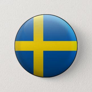 Bóton Redondo 5.08cm Bandeira da suecia