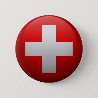 Bóton Redondo 5.08cm Bandeira da Suíça