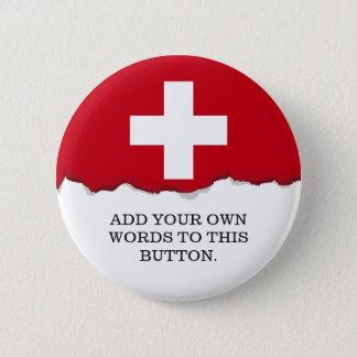 Bóton Redondo 5.08cm Bandeira da suiça
