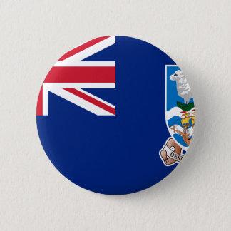 Bóton Redondo 5.08cm Bandeira das Ilhas Falkland - Union Jack