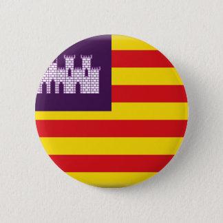 Bóton Redondo 5.08cm Bandeira de Balearic Island (espanha)