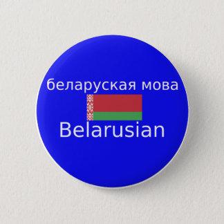 Bóton Redondo 5.08cm Bandeira de Belarus e design da língua
