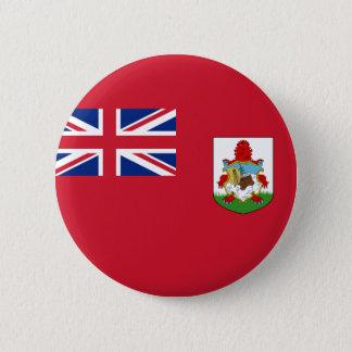 Bóton Redondo 5.08cm Bandeira de Bermuda (Reino Unido) no Pin/crachá do