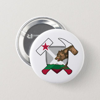 Bóton Redondo 5.08cm Bandeira de Califórnia do protetor do martelo da