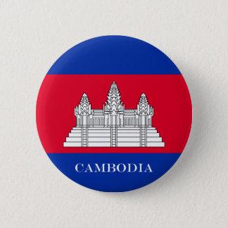 Bóton Redondo 5.08cm Bandeira de Cambodia