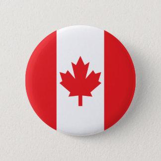 Bóton Redondo 5.08cm Bandeira de Canadá