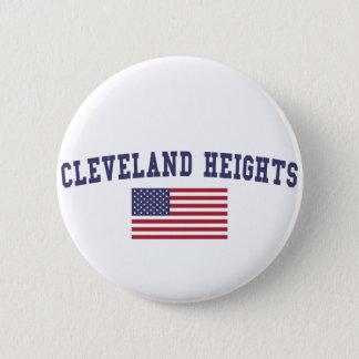 Bóton Redondo 5.08cm Bandeira de Cleveland Heights E.U.