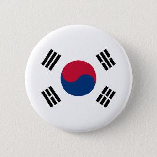 Bóton Redondo 5.08cm Bandeira de Coreia do Sul
