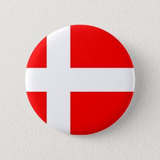 Bóton Redondo 5.08cm Bandeira de Dinamarca
