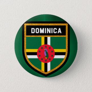 Bóton Redondo 5.08cm Bandeira de Dominica