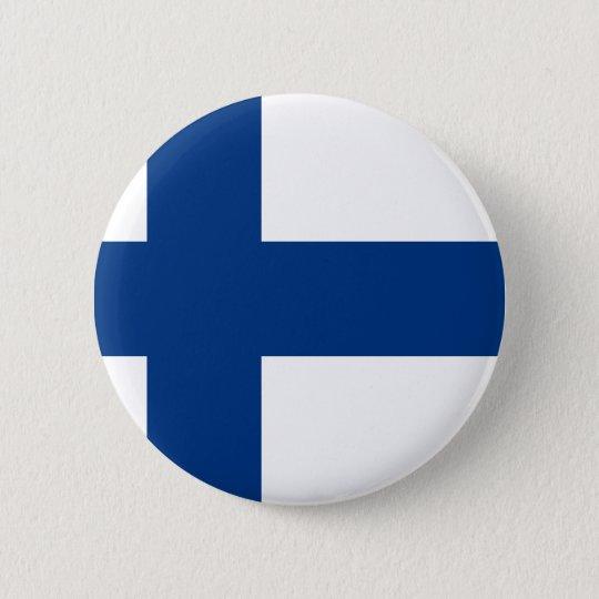 Bóton Redondo 5.08cm Bandeira de Finlandia (lippu de Suomen, flagga de