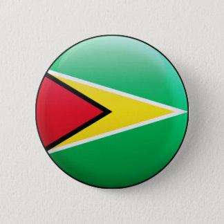 Bóton Redondo 5.08cm Bandeira de Guyana