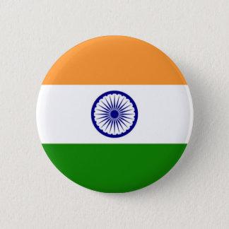 Bóton Redondo 5.08cm Bandeira de India no Pin/crachá do botão