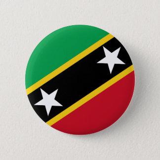 Bóton Redondo 5.08cm Bandeira de Kitts e de Nevis