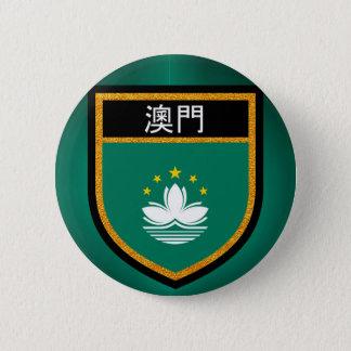 Bóton Redondo 5.08cm Bandeira de Macau
