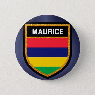 Bóton Redondo 5.08cm Bandeira de Maurício