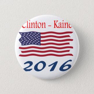 Bóton Redondo 5.08cm Bandeira de ondulação de Clinton Kaine