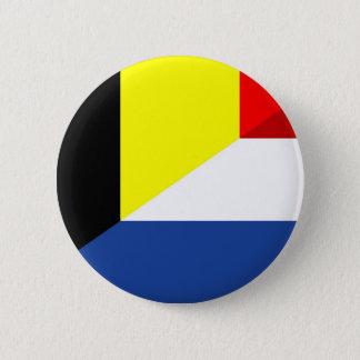 Bóton Redondo 5.08cm bandeira de país da bandeira de Bélgica do