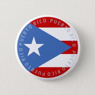 Bóton Redondo 5.08cm Bandeira de Puerto Rico