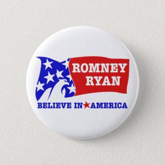 Bóton Redondo 5.08cm Bandeira de Romney Ryan Eagle