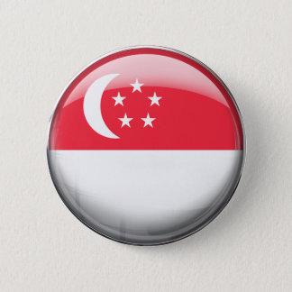 Bóton Redondo 5.08cm Bandeira de Singapore