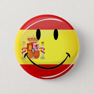Bóton Redondo 5.08cm Bandeira de sorriso da espanha