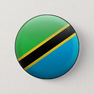 Bóton Redondo 5.08cm Bandeira de Tanzânia