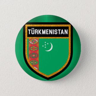 Bóton Redondo 5.08cm Bandeira de Turkmenistan