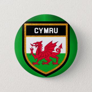 Bóton Redondo 5.08cm Bandeira de Wales