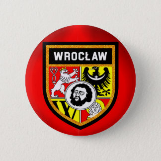 Bóton Redondo 5.08cm Bandeira de Wrocław