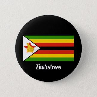 Bóton Redondo 5.08cm Bandeira de Zimbabwe